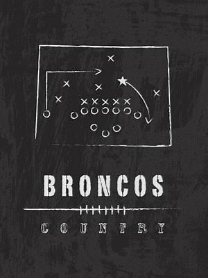 Denver Broncos Art - Nfl Football Wall Print Art Print by Damon Gray