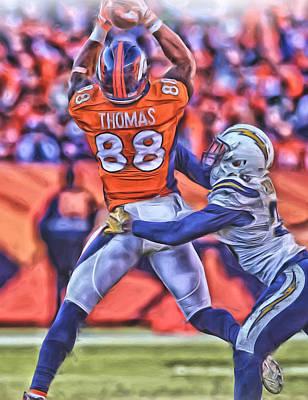 Denver Broncos Oil Art 3 Art Print by Joe Hamilton