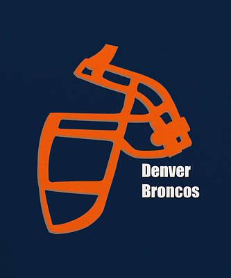 Denver Broncos Retro Art Print