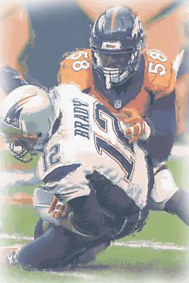 Denver Broncos Von Miller 2 Art Print by Joe Hamilton