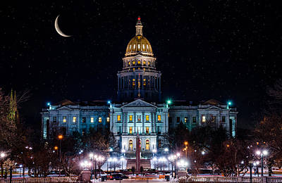 Photograph - Denver Capital Nights by Darren White