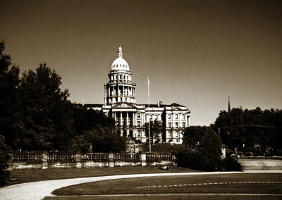 Photograph - Denver Capitol 1950s Sepia by Marilyn Hunt