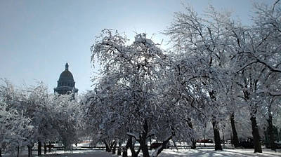 Photograph - Denver Capitol After Blizzard by Marilyn Hunt