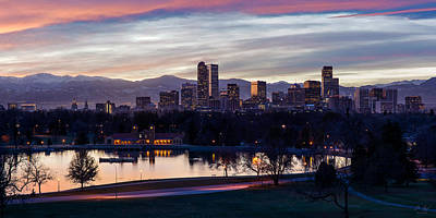 Photograph - Denver - City Park At Sunset by Aaron Spong
