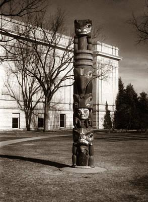 Photograph - Denver City Park Totem Pole 1949 2 by Marilyn Hunt