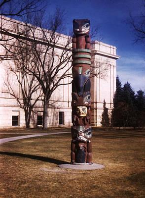 Native American Photograph - Denver City Park Totem Pole 1949 by Marilyn Hunt