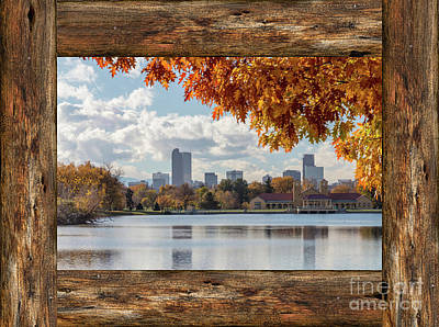 Photograph - Denver City Skyline Barn Window View by James BO Insogna