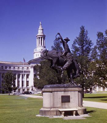 Photograph - Vintage Denver Civic Center Sculpture Statue by Marilyn Hunt