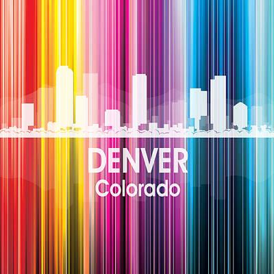Rainbow Mixed Media - Denver Co 2 Squared by Angelina Vick