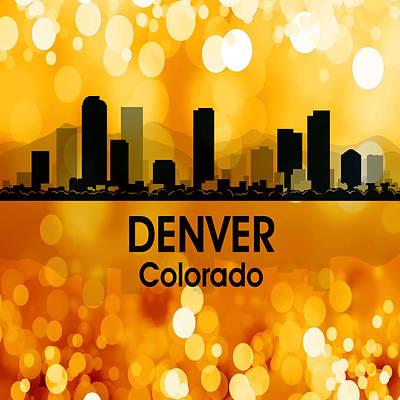 Rainbow Mixed Media - Denver Co 3 Squared by Angelina Vick