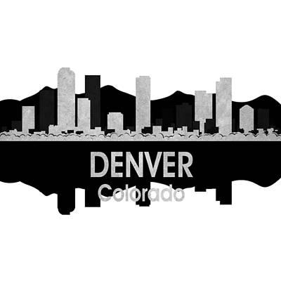 Rainbow Mixed Media - Denver Co 4 Squared by Angelina Vick