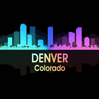 Skyscraper Mixed Media - Denver Co 5 Squared by Angelina Vick