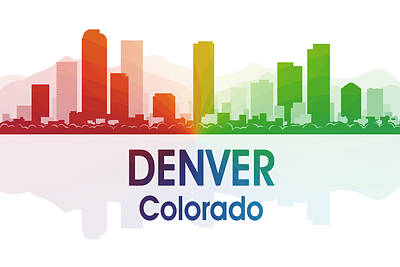 Digital Art - Denver Co by Angelina Vick