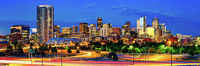 Photograph - Denver Co Dawn Panorama by Gregory Ballos