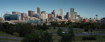 Denver Skyline Photograph - Denver Co Skyline by Steve Gadomski