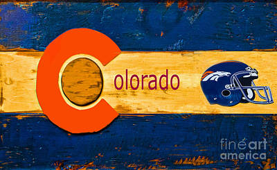 Denver Colorado Broncos 1 Art Print