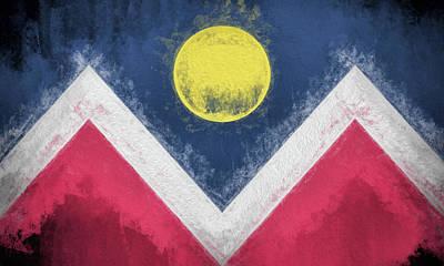 Digital Art - Denver Colorado City Flag by JC Findley