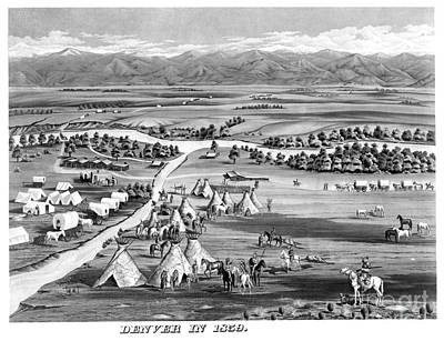 Painting - Denver Colorado 1859 by Granger