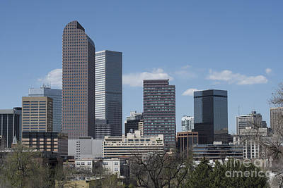Denver Skyline Photograph - Denver Colorado by Juli Scalzi