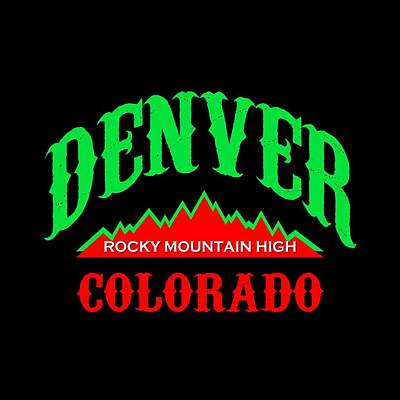 Buy Tshirts Tapestry - Textile - Denver Colorado - Rocky Mountain High by Art America Gallery Peter Potter