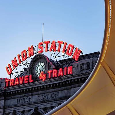 Photograph - Denver Colorado Union Train Station - Square by Gregory Ballos