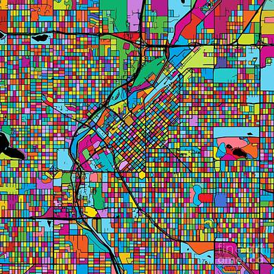 Denver Colorful Map Original