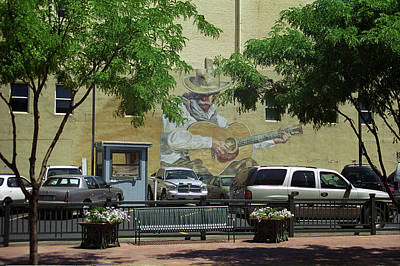 Art Print featuring the photograph Denver Cowboy Parking by Frank Romeo