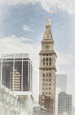 Photograph - Denver D And F Clock Tower by Ann Powell