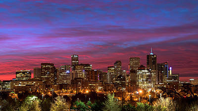 Photograph - Denver Dawn by Ryan Heffron