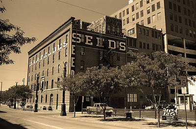 Art Print featuring the photograph Denver Downtown Warehouse Sepia by Frank Romeo