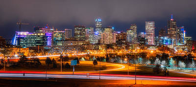 Denver Skyline Photograph - Denver Fog by Darren White