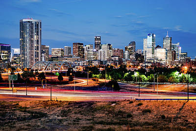 Photograph - Denver Mile High Skyline by Gregory Ballos