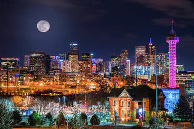 Photograph - Denver Moon by Darren White