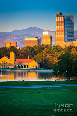Denver Skyline Photograph - Denver Morning by Inge Johnsson
