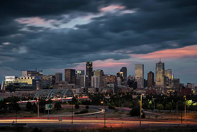 Photograph - Denver Nights by Ryan Heffron