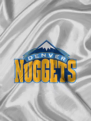 Fan Art Drawing - Denver Nuggets by Afterdarkness