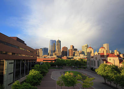 Denver Skyline Photograph - Denver Skyline After A Passing Storm by Bridget Calip