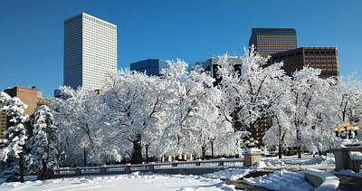 Photograph - Denver Skyline After Blizzard by Marilyn Hunt