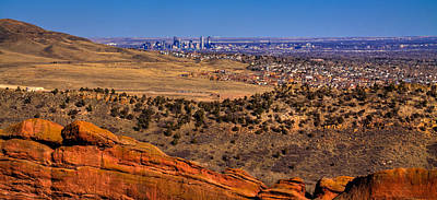 Photograph - Denver Skyline From The Red Rock Amphitheater by David Patterson
