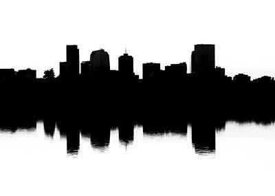 Photograph - Denver Silhouette by Kevin Schwalbe
