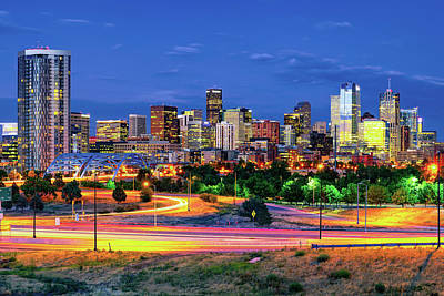 Photograph - Denver Skyline - Mile High City by Gregory Ballos