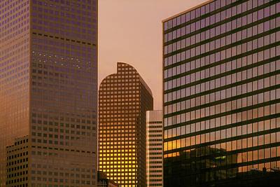 Denver Skyline Of Glass Art Print by Steve Mohlenkamp