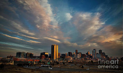 Photograph - Denver Skyline On New Year's Day by Kristal Kraft