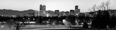 Denver Skyline Panorama From City Park Art Print by Gregory Ballos