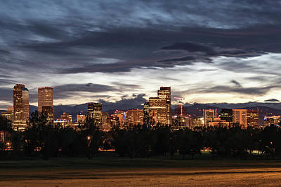 Photograph - Denver Skyline by Philip Rodgers