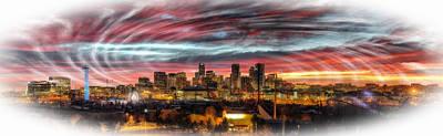Digital Art - Denver Skyline by Rod Jellison