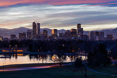 Photograph - Denver Sunset by Aaron Spong