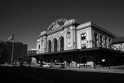 Photograph - Denver - Union Station Bw by Frank Romeo