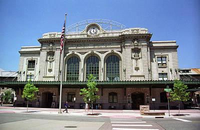 Art Print featuring the photograph Denver - Union Station Film by Frank Romeo