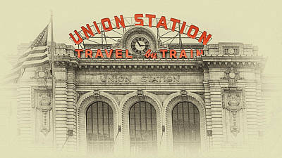 Photograph - Denver Union Station by Susan Rissi Tregoning